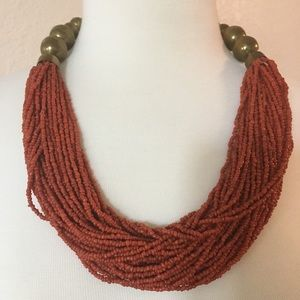 Very cool seed bead necklace. Boho. Tribal